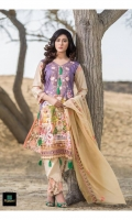 3 Piece Embroidered/Printed Suit With Chiffon/Silk Dupatta