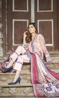 Digital Printed Viscose Shirt Digital Printed Sleeves Digital Printed Shawl Dyed Trouser Embroidered Border for Neck Line (1 mtr) Embroidered Border for Hem(1 mtr)