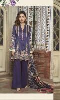Embroidered Digital Printed Viscose Shirt Digital Printed Sleeves Digital Printed Shawl Dyed Trouser