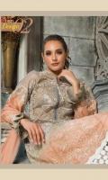 03 pcs unstitched luxury chikankari suits Chikankari Formal Shirt Chiffon Dupatta Dyed + Embroidered Trouser