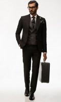 Classic black two piece suit Pointed broad lapel Slim Fit Light weight tropical fabric