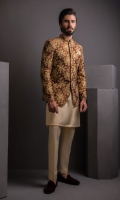 Embosed Net P/Coat, with Cotton Silk K/P