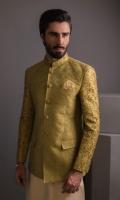 Zari Jamawar Hand Emboided With Cotton Silk Kurta Pajama
