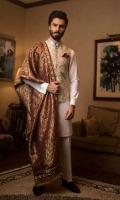Waistcoat with Kurta Pajama, Pocket Square, Shawl