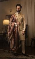 Paper Net Waistcoat,Cotton Silk Kurta Pajama with Jamawar Shawl, Pocket Square