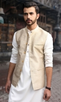 100% Banarsi golden waist coat.