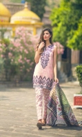3 Piece Printed Lawn Suit With Printed Shirt Printed Sleeves Printed Slik Dupatta Embroidered Neckline Embroidered Border Printed Trouser