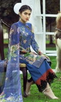 Embroidered Lawn Shirt  Digital Printed Chiffon dupatta  Simple Trouser