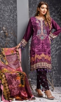 • Linen Embroidered Shirts  • with Printed Wool Shawls  • & Printed Embroidered Trousers.