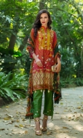 Shirt: Printed Lawn Dupatta: Printed Chiffon Trouser: Printed  EMBROIDERY: Embroidered Gala Embroidered bunches for Sleeves