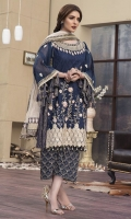 Embroidered Banarsi Net Jacquard Front 1 M Embroidered Banarsi Net Jacquard Back 1 M Embroidered Patch A For Right & Left Front & Back 2 M Embroidered Patch B For Daman Front & Back 2 M Neckline Embroidered Patch 1 Pc Embroidered Banarsi Net Jacquard Sleeves 0.67 M Zari Net Dupatta 2.5 M Dupatta Embroidered Pallu Patch 2 M Dupatta Embroidered 2 Side Patch 5 M Embroidered Dyed Silk Trouser 2.5 M Dyed Shirt Lining 1.5 M