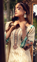 Embroidered Lawn Front 1.00 M Dyed Lawn Back 1.14 M Embroidered Neckline Patch 1 Pc Embroidered Patch For Front 0.92 M Embroidered Patch For Front & Back Daman 1.84 M Embroidered Lawn Sleeves 0.67 M Embroidered Sleeves Patch A 1.00 M Embroidered Sleeves Patch B 1.00 M Dyed Banarsi Organza Dupatta 2.50 M Dyed Cotton Trouser 2.50 M