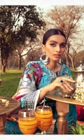 Embroidered Lawn Front 1.20 M Dyed Lawn Back 1.14 M Embroidered Hand Embellished Neckline Patch 1 Pc Embroidered Patch A For Front Daman 0.94 M Embroidered Patch B For Front Daman 0.94 M Embroidered Lawn Sleeves 0.67 M Embroidered Sleeves Patch 1.10 M Digital Printed Tissue Silk Dupatta 2.50 M Dyed Cotton Trouser 2.50 M