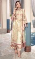 03 Pcs Unstitched Luxury Embroidered Chiffon with Embroidered Chiffon and Net Dupatta