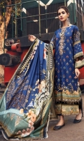 Digital Printed Linen Front 1 M Digital Printed Linen Back 1 M Neckline Embroidered Patch 1 Pc Digital Printed Linen Sleeves 0.67 M Digital Printed Linen Dupatta 2.5 M Dyed Linen Trouser 2.5 M