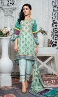 Printed Lawn Shirt Printed Lawn Dupatta Dyed Cambric Trouser