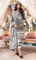 Lawn Printed Front  Lawn Printed Back  Lawn Printed Sleeves  Cotton Net Embroidered Dupatta  Front  Patch  Sleeve Border Patch  Damn Border  Patch  Plain Cotton Trouser