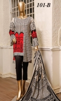 -Printed Cambric Shirt -Printed Cambric Dupatta -Dyed Cambric Trouser