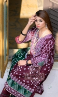 * High Quality Embroidery with Sheesha work on Front *High Quality Printed Back * Printed Lawn Dupatta  * Dyed Cambric Trouser * Embroidered Sequenced Daman Patch * Embroidered Sequenced Sleeves OR Trouser Patch