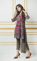 Its on Net Fabric with Thread Embroidery. Designing Net Back With Inner.
