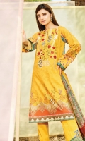 embroidered lawn unstitch three pcs suit