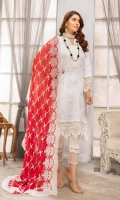 Embroidered Swiss Lawn Shirt Signature Embroidered Dupata Plain Trouser