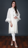 Embroidered Chikankari Stitched 2 Piece Suit