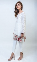 Feminine intricate floral embroidery (One piece)