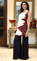 Linear color block tunic (One piece)