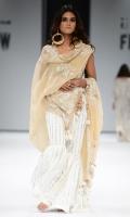 Gharara with kamdani and embroidery. Organza Fabric, Silk bluose.