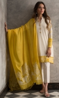 Soft cotton pleated shirt with traditional hand embroidery and mirror work on sleeves