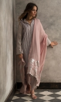 Cotton net pleated shirt with hand embroidered mirror work on sleeves