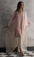 Crepe silk pleated shirt with hand embroidered mirror work in the front panel