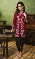 Zardozi hand work on front and sleeves, paired wif plain silk tulip pants included in price.