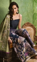 Green silk short angarkha draped on model's arm with hand worked Sequence, pearl and Zardozi motifs.