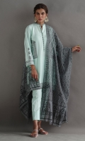 Thick cotton pocket printed shirt. Paired with beautiful cotton dupatta and cotton pants.