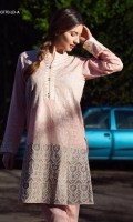 Fully embroidered shirt with plain dyed trouser.