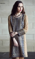 Fully embroidered shirt, printed back and sleeves with Plain dyed trouser.