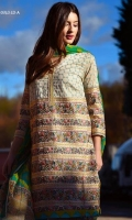 Ethnic fully embroidered shirt , printed chiffon dupatta and a plain dyed trouser.