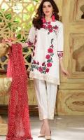 Material: Dupatta Chiffon, Shirt Lawn , Trouser Cotton