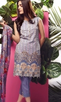 Three Piece Embroidered Lawn Suit.