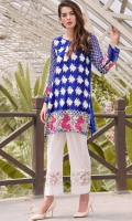 Beautifull pure crinckle chiffon top with front and sleeve fully embroidered ,offering with cotton silk fabric inner. tussle on shirt front enhancing the beauty of outfit