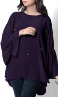 This Trendy Top With Flared Cut Sleeves, The High Low Length Gives This Top A Nice look