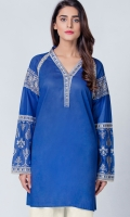 Only top with embroidered sleeve , lace on neck & sleeve enhancing the beauty of outfi