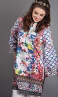 Floral Printed Shirt Comes With Lose Straight Cuts, Is A Perfect Blend Of Vibrant Colors