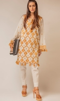 Turkish embroided two piece cotton lawn outfit,enhancing the design with very trending tussels on daman and sleeves