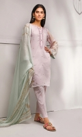 This Feminine kurta look perfect for day time glam look paired with beautiful block printed chiffon dupatta and straight pants trouser