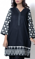 Black shirt with turkish inspired embroidered sleeves and embroidered border at hem.