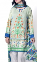 Inspiration taken from modern turkish pattern & motif with contrasted base comes with printed lawn dupatta