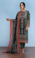 -Digital Printed Super Fine Lawn Shirt: 3 Mtr  -Printed Voil Dupatta: 2.5 Mtr